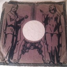 Discos de pizarra: ANTIGUA FUNDA DISCO DE GRAMOFONO PIZARRA ORIGINAL DE LOS AÑOS 30/40 26 CMTS. Lote 57070741