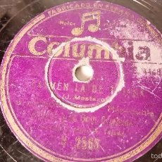 Discos de pizarra: ANTIGUO DISCO DE GRAMOFONO PIZARRA ORIGINAL DE LOS AÑOS 30/40. Lote 57194379