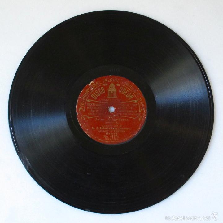 Discos de pizarra: DISco pizarra antiguo JOTAS ARAGONESAS ANTONIO POZO MOCHUELO odeon - Foto 3 - 57224667