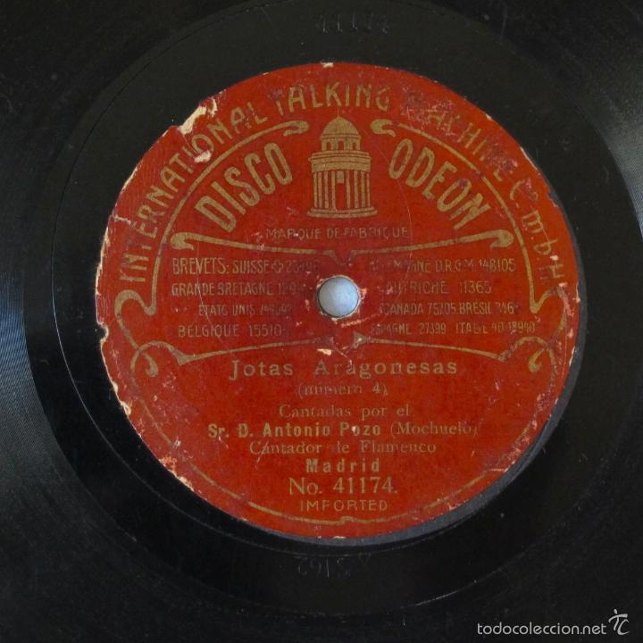 Discos de pizarra: DISco pizarra antiguo JOTAS ARAGONESAS ANTONIO POZO MOCHUELO odeon - Foto 4 - 57224667