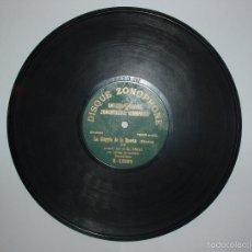 Discos de pizarra: DISCO PIZARRA ZONOPHONE. LA ALEGRIA DE LA HUERTA (CHUECA) JOTA POR SR. VIDAL. Lote 58409140