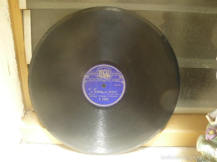 DISCO 30 CM – CAPSIR, BORGIOLI,STRACCIARI - IL BARBIERE DI SIVIGLIA – REGAL – 78 RPM (Música - Discos - Pizarra - Clásica, Ópera, Zarzuela y Marchas)