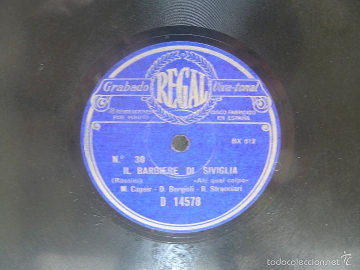 Discos de pizarra: DISCO 30 CM – CAPSIR, BORGIOLI,STRACCIARI - IL BARBIERE DI SIVIGLIA – REGAL – 78 RPM - Foto 2 - 57322843