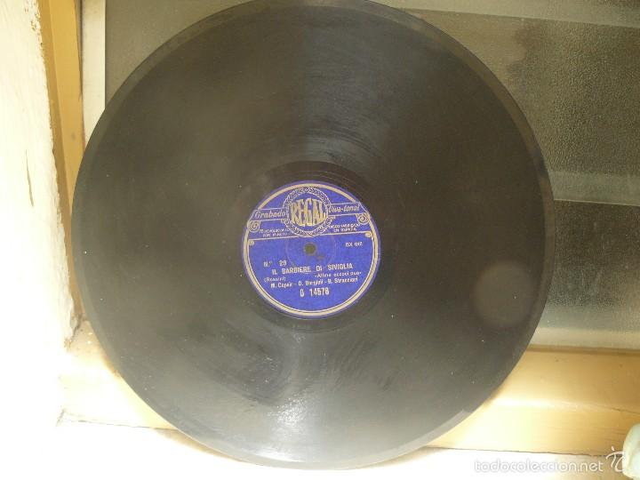 Discos de pizarra: DISCO 30 CM – CAPSIR, BORGIOLI,STRACCIARI - IL BARBIERE DI SIVIGLIA – REGAL – 78 RPM - Foto 3 - 57322843
