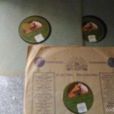 Discos de pizarra: LA ARGENTINITA Y FEDERICO GARCIA LORCA LOTE 3 DISCOS DE PIZARRA COLECCIÓN DE CANCIONES POPULARES ANT. Lote 57692002