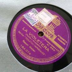 Discos de pizarra: RAQUEL MELLER DISCO DE PIZARRA LA VIOLETERA /FLOR DE TE. Lote 57720194