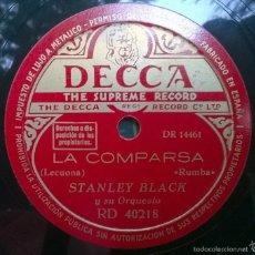 Discos de pizarra: STANLEY BALCK. ANDALUCIA/ LA COMPARSA. DECCA RD 40218 DISCO PIZARRA 78 RPM. Lote 57839246