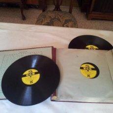 Disques en gomme-laque: ALBUM 12 DISCOS DE PIZARRA DE PELICULAS MGM Y VARIADOS. INCLUYE 4 TEMAS DE CANTANDO BAJO LA LLUVIA.. Lote 75994102
