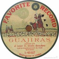 Discos de pizarra: DISCO DE PIZARRA GINES SANCHEZ. Lote 58233877