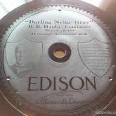 Discos de pizarra: DISCO PIZARRA EDISON - DARLING NELLIE GRAY - EVER OF THEE I'M, ESTA GRABADO EN LA PIZARRA, 25 CM. Lote 58242382