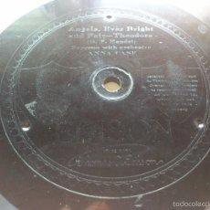 Discos de pizarra: DISCO PIZARRA EDISON - ANGELS, EVER BRIGHT - COMO WHERE MY, ESTA GRABADO EN LA PIZARRA, 25 CM. Lote 58242462