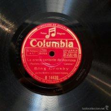Discos de pizarra: BING CROSBY - ARENA CANTANTE DE ALAMOSA / CONCHITA, MARQUITA, LÓPEZ. Lote 58254775