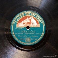 Discos de pizarra: GLENN MILLER - VERANILLO / DESCUIDADO. Lote 58255187