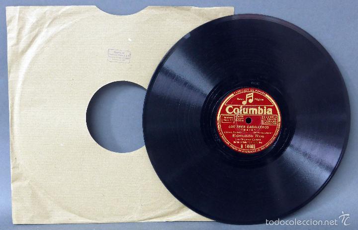 LOS TRES CABALLEROS BAIA MÉXICO DISCO PIZARRA COLUMBIA (Música - Discos - Pizarra - Solistas Melódicos y Bailables)