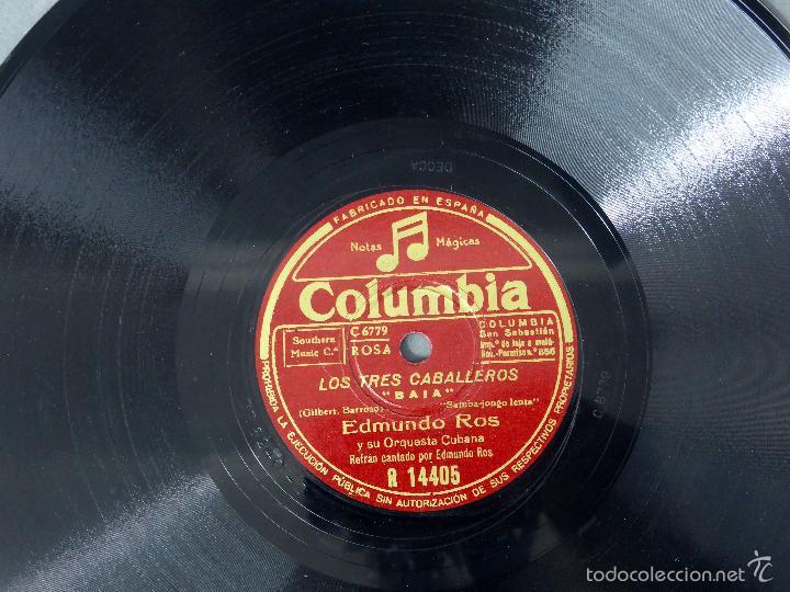 Discos de pizarra: Los Tres Caballeros Baia México disco pizarra Columbia - Foto 2 - 58277730