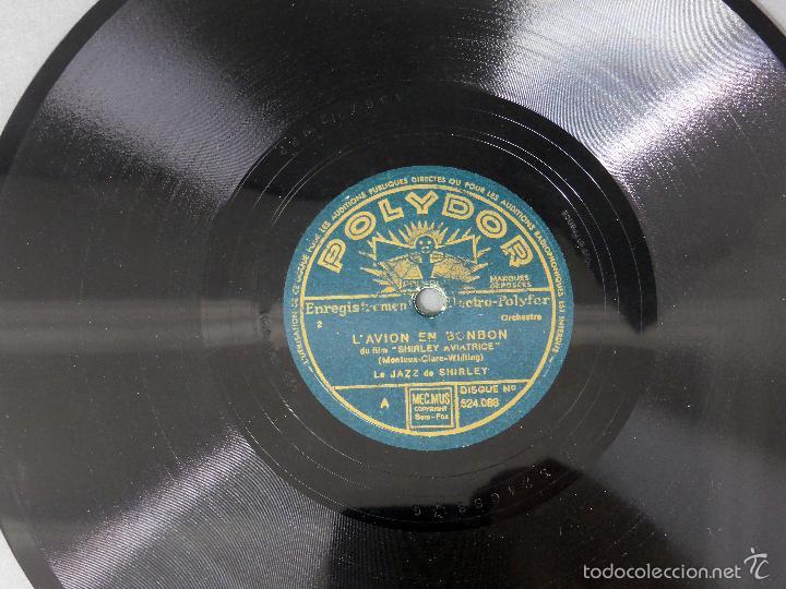 Discos de pizarra: Le Jazz de Shirley L avion en bonbon Le petit colonel disco pizarra Polydor - Foto 2 - 58278091