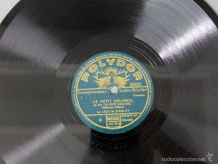 Discos de pizarra: Le Jazz de Shirley L avion en bonbon Le petit colonel disco pizarra Polydor - Foto 3 - 58278091