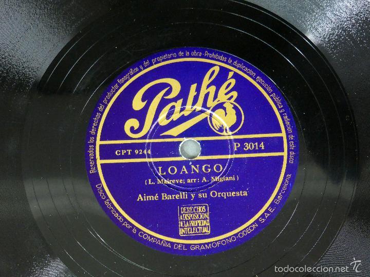Discos de pizarra: Aimé Barelli Si tu me abandonas Solo ante peligro Lo ango disco pizarra Pathe - Foto 2 - 58279544