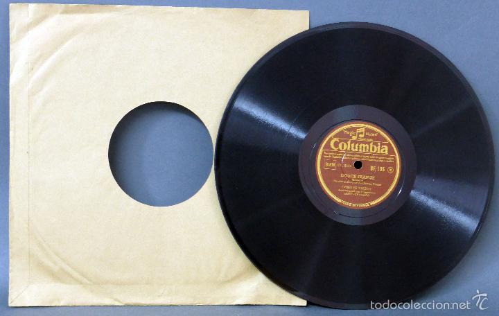 CHARLES TRENET DOUCE FRANCE N Y PENSEZ PAS TROP DISCO PIZARRA COLUMBIA (Música - Discos - Pizarra - Solistas Melódicos y Bailables)