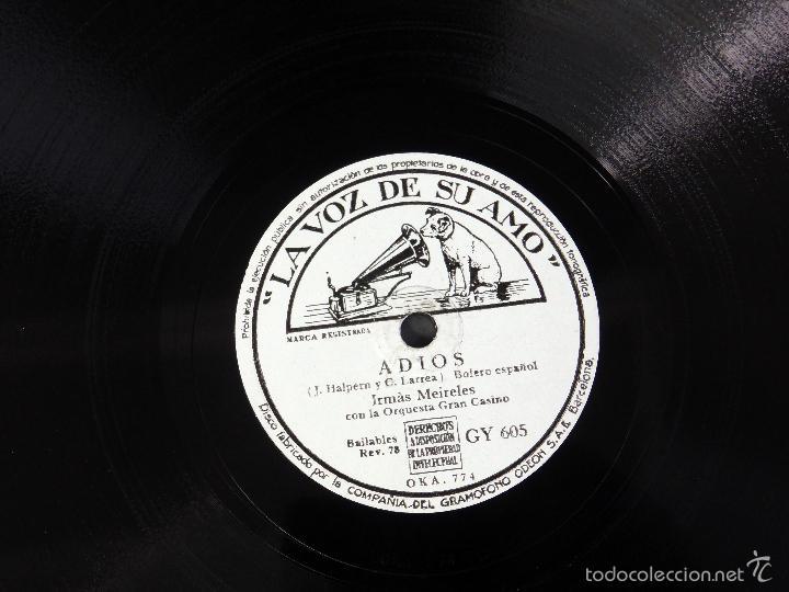 Discos de pizarra: Película Saludos Amigos Walt Disney Irmás Meireles Adios Tico tico disco pizarra La Voz de su Amo - Foto 3 - 58324509