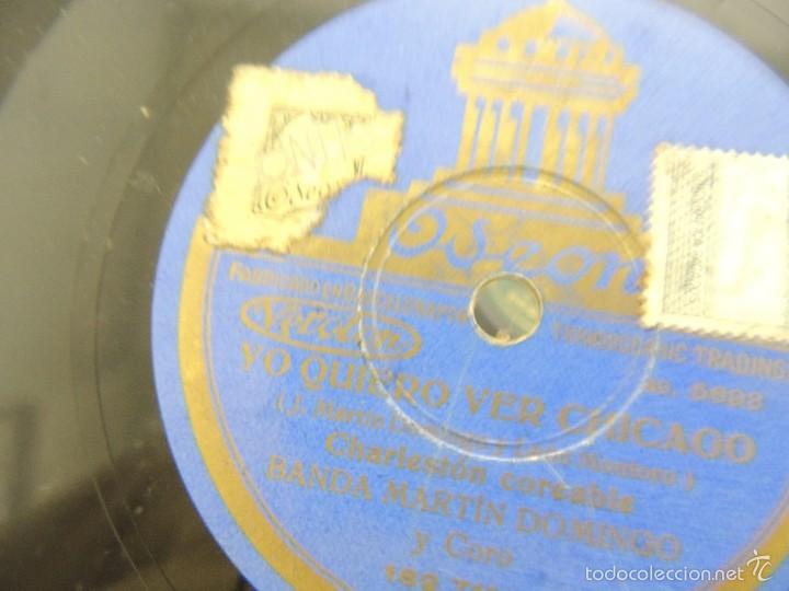 DISCO PIZARRA ODEON YO QUIERO VER CHICAGO 1929 (Música - Discos - Pizarra - Clásica, Ópera, Zarzuela y Marchas)