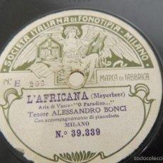Discos de pizarra: DISCO DE PIZARRA FIRMADO ALESSANDRO BONCI. Lote 58388526
