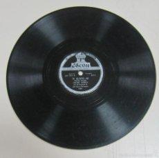 Discos de pizarra: DISCO DE GRAMOFONO. ODEON. LUCHO GATICA - TE QUIERO ASI / EL VERDADERO AMOR. Lote 58462180