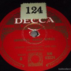 Discos de pizarra: JIMMIE LUNCEFORD AND HIS ORCHESTRA ( CHOCOLATE BOOGIE WOOGIE - BATTLE AXE ) DECCA. Lote 58543292