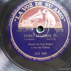 Discos de pizarra: DISCO PIZARRA ANTIGUO. Lote 58618676