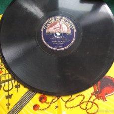 Discos de pizarra: DISCO PIZARRA ANTIGUO LA VOZ DE SU AMO. Lote 58618691