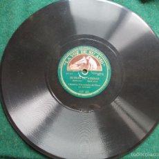Discos de pizarra: DISCO DE PIZARRA ANTIGUO LA VOZ DE SU AMO. Lote 58618768