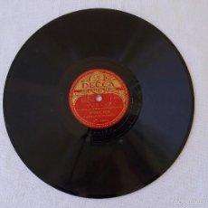 Discos de pizarra: DISCO PIZARRA PARA GRAMÓFONO ELVIRA RIOS - BOLERO - DECCA. Lote 58637938