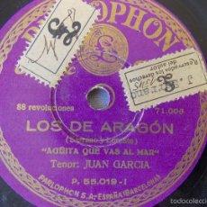 Discos de pizarra: DISCO PIZARRA PARA GRAMÓFONO JUAN GARCIA - TENOR - PARLOPHON. Lote 58638377