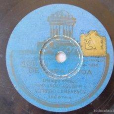 Discos de pizarra: DISCO PIZARRA PARA GRAMÓFONO DIALOGO COMICO - REGAL. Lote 58638451