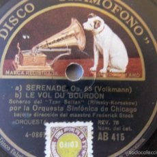Discos de pizarra: DISCO PIZARRA PARA GRAMÓFONO ORQUESTA SINFONICA CHICAGO - GRAMOPHONE DISCO. Lote 58638700