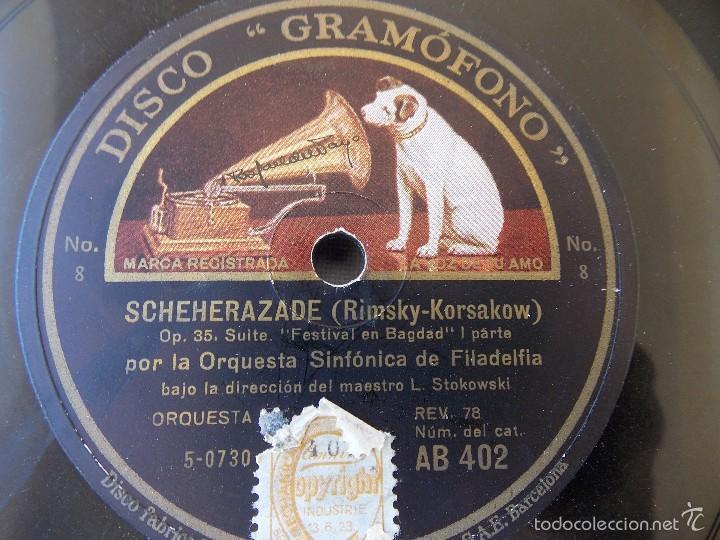 DISCO PIZARRA PARA GRAMÓFONO ORQUESTA SINFONIA FILADELFIA - GRAMOPHONE DISCO (Música - Discos - Pizarra - Otros estilos)