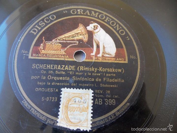 Discos de pizarra: disco pizarra para gramófono orquesta sinfonia Filadelfia - Gramophone disco - Foto 2 - 58638886