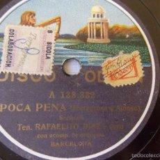 Discos de pizarra: DISCO PIZARRA PARA GRAMÓFONO RAFAELITO DIAZ - ODEON. Lote 58638983