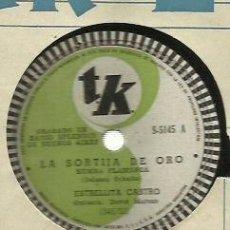 Discos de pizarra: ESTRELLITA CASTRO PIZARRA 78 RPM. SELLO TK GRABADA EN RADIO SPLENDID DE BUENOS AIRES. Lote 59266195