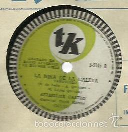 Discos de pizarra: ESTRELLITA CASTRO PIZARRA 78 RPM. SELLO TK GRABADA EN RADIO SPLENDID DE BUENOS AIRES - Foto 2 - 59266195