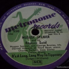 Discos de pizarra: MUGGSY SPANIER & HIS RAGTIME BAND ( IT'S A LONG, LONG WAY TO TIPPERARY - HOME ) METRONOME RECORDS. Lote 59989119