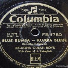 LECUONA CUBAN BOYS Vocal A. RABAGLIATI ( BLUE RUMBA - COUBANAKAN ) COLUMBIA