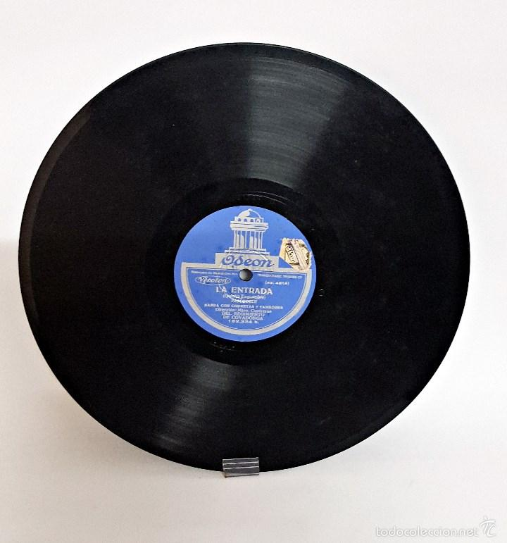 Discos de pizarra: Disco de pizarra de la Banda de corneta y tambores del Regimiento de Covadonga - Foto 2 - 60077487