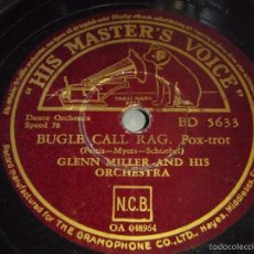 Discos de pizarra: GLENN MILLER & HIS ORCHESTRA ( SLOW FREIGHT - BUGLE CALL RAG ) HIS MASTER'S VOICE. Lote 60126995