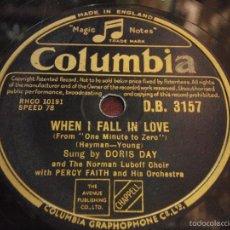Discos de pizarra: DORIS DAY ( MY LOVE AND DEVOTION - WHEN I FALL IN LOVE ) COLUMBIA. Lote 60134571