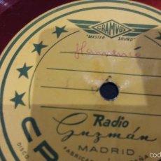 Flamenco disco de pizarra 78 rpm ( acetato)