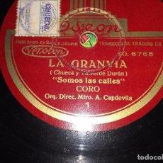 Discos de pizarra: LA GRANVÍA (CHUECA Y VALVERDE). Lote 61584948