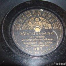 Discos de pizarra: DISCO PIZARRA HOMOKORD : WALDESSECHO Y MARGARETE WALZORD. Lote 62018832