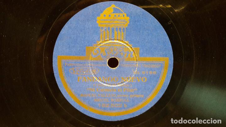 Discos de pizarra: PIZARRA !! MANUEL VALLEJO. FANDANGO GITANO / FANDANGO NUEVO / SELLO ODEON - 25 CM / BC. - Foto 2 - 62907548