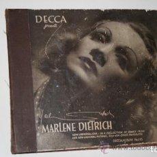 Discos de pizarra: ALBUM DE 3 DISCOS DE PIZARRA DE 78 RPM GRAMÓFONO DE MARLENE DIETRICH. Lote 63415192